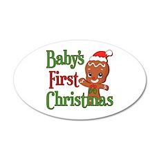 Gingerbreadman 1st Christmas Wall Decal
