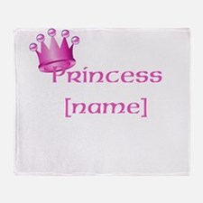 Personlized Princess Throw Blanket