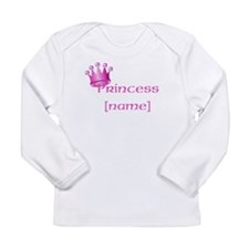 Personlized Princess Long Sleeve Infant T-Shirt