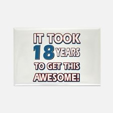 18 Year Old birthday gift ideas Rectangle Magnet