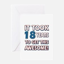 18 Year Old birthday gift ideas Greeting Card