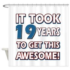 19 Year Old birthday gift ideas Shower Curtain