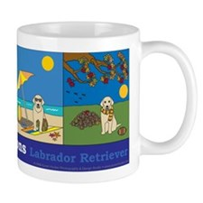 A Dog for All Seasons, Yellow Lab Mug