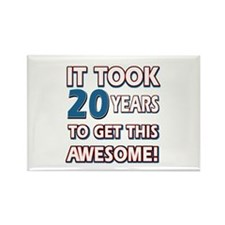 20 Year Old birthday gift ideas Rectangle Magnet