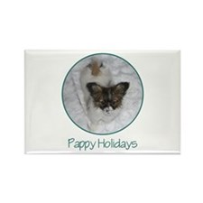 Pappy Holidays (puppy) Rectangle Magnet