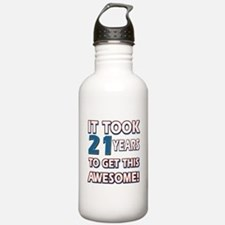 21 Year Old birthday gift ideas Water Bottle