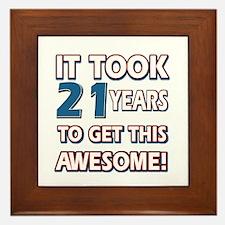 21 Year Old birthday gift ideas Framed Tile