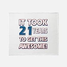 21 Year Old birthday gift ideas Throw Blanket