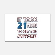 21 Year Old birthday gift ideas Car Magnet 20 x 12
