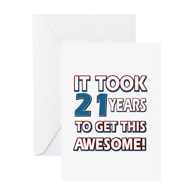 21 Year Old Birthday Gift Ideas Greeting Card By Swagteez