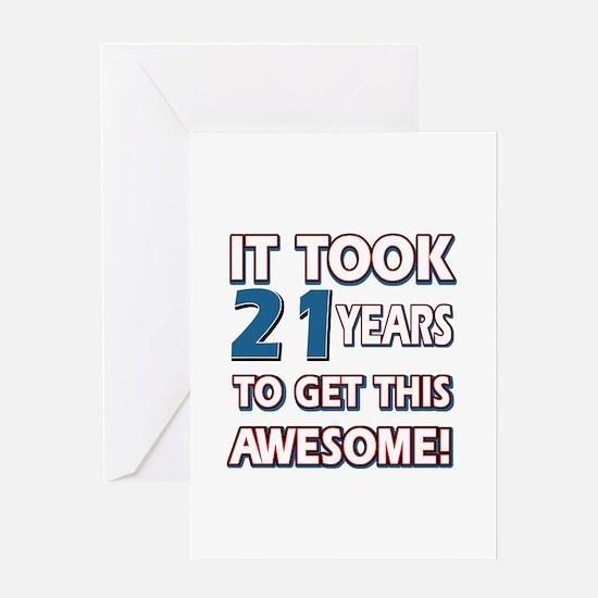 21 Year Old birthday gift ideas Greeting Card
