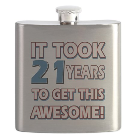 21 Year Old birthday gift ideas Flask