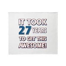 27 Year Old birthday gift ideas Throw Blanket