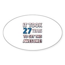 27 Year Old birthday gift ideas Decal