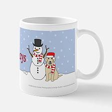 Happy Holidays Yellow Lab Mug