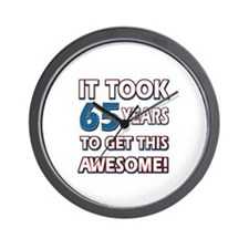 65 Year Old birthday gift ideas Wall Clock