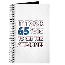 65 Year Old birthday gift ideas Journal