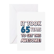 65 Year Old birthday gift ideas Greeting Card