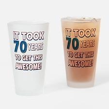 70 Year Old birthday gift ideas Drinking Glass