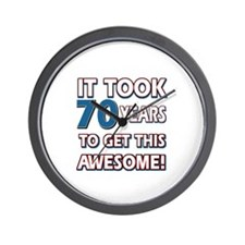 70 Year Old birthday gift ideas Wall Clock