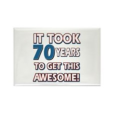 70 Year Old birthday gift ideas Rectangle Magnet