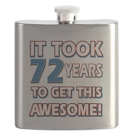 72 Year Old birthday gift ideas Flask