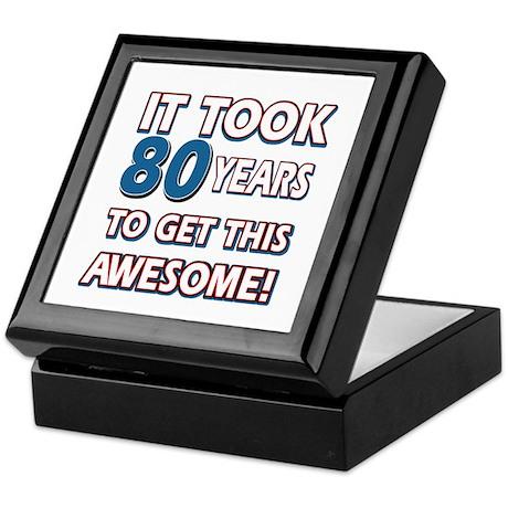 80 Year Old birthday gift ideas Keepsake Box
