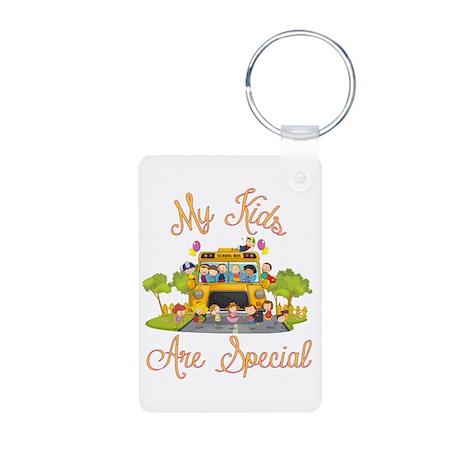 School bus Aluminum Photo Keychain