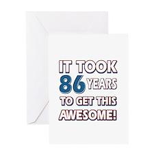 86 Year Old birthday gift ideas Greeting Card