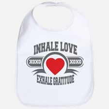 Inhale Love, Exhale Gratitude Bib