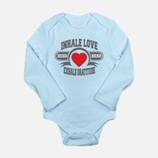 Inhale Love, Exhale Gratitude Long Sleeve Infant B