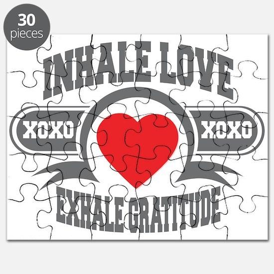 Inhale Love, Exhale Gratitude Puzzle
