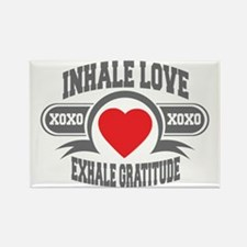 Inhale Love, Exhale Gratitude Rectangle Magnet