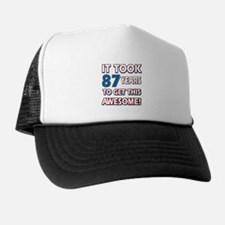 87 Year Old birthday gift ideas Trucker Hat