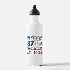 87 Year Old birthday gift ideas Water Bottle