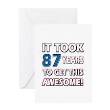 87 Year Old birthday gift ideas Greeting Card