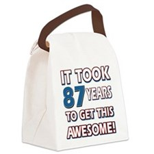 87 Year Old birthday gift ideas Canvas Lunch Bag