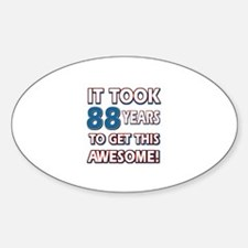 88 Year Old birthday gift ideas Decal