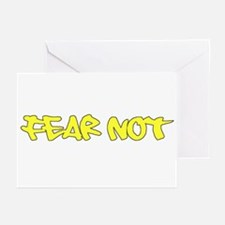 Fear Not - yellow Greeting Cards (Pk of 10)