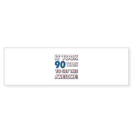 90 Year Old birthday gift ideas Sticker (Bumper)