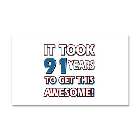 91 Year Old birthday gift ideas Car Magnet 20 x 12