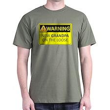 Warning: New Grandpa on the Loose T-Shirt
