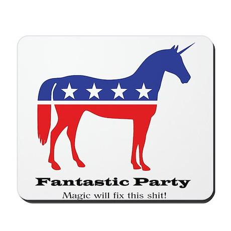 Unicorn Fantastic Party Magic Mousepad