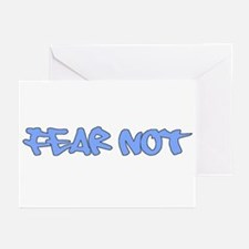 Fear Not - light blue Greeting Cards (Pk of 10