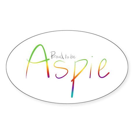 Proud to be Aspie Sticker (Oval)