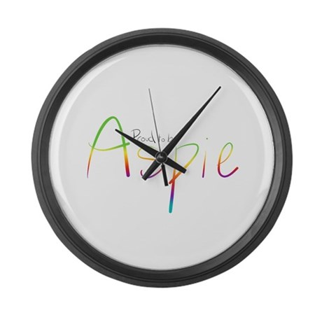 Proud to be Aspie Large Wall Clock