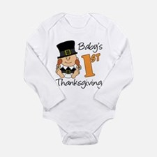 Boys First Thanksgiving Long Sleeve Infant Bodysui