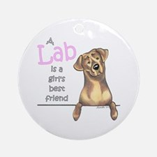 Chocolate Lab BF Ornament (Round)