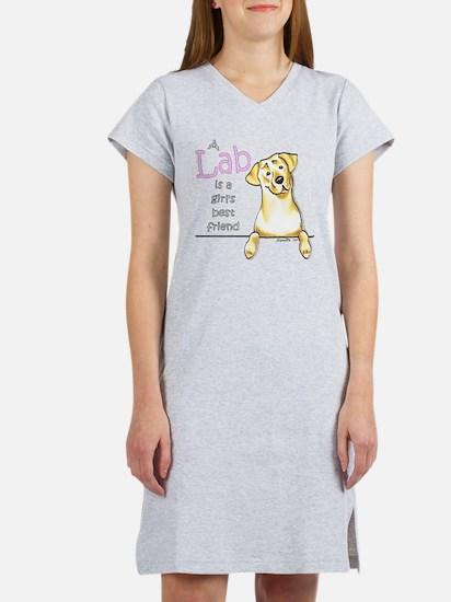 Yellow Lab BF Women's Nightshirt