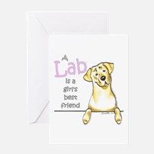 Yellow Lab BF Greeting Card